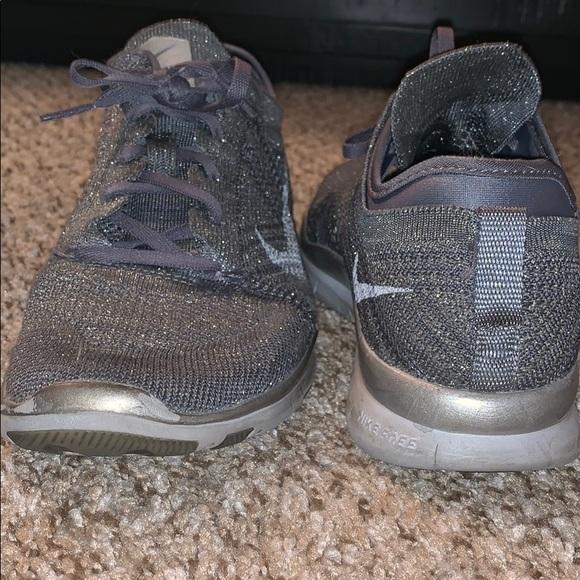 Nike Shoes | Grey Glitter Mesh Nike